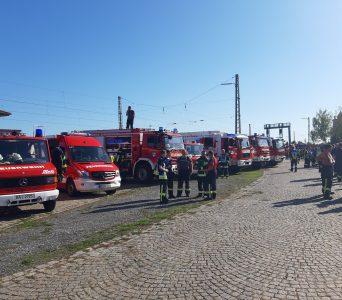 """12.10.2019 """"Katastrophenschutz Übung des Landkreises Bamberg im Raum Hirschaid"""""""